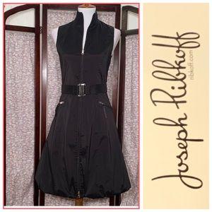 Joseph Ribkoff solid black sleeveless dress.
